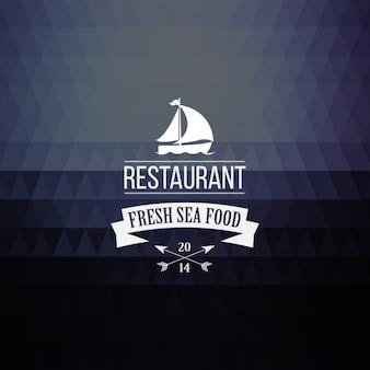 レストランのラベルを持つ抽象的な背景