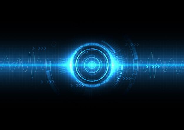 青いデジタルサウンドウェーブの背景