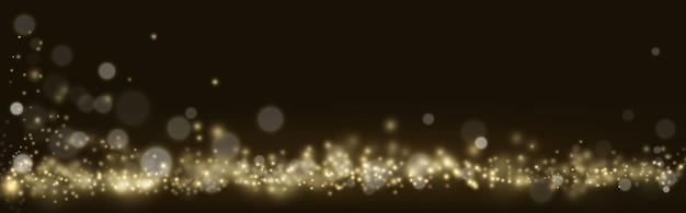 Золотой сверкающий свет боке, сверкающая роскошь
