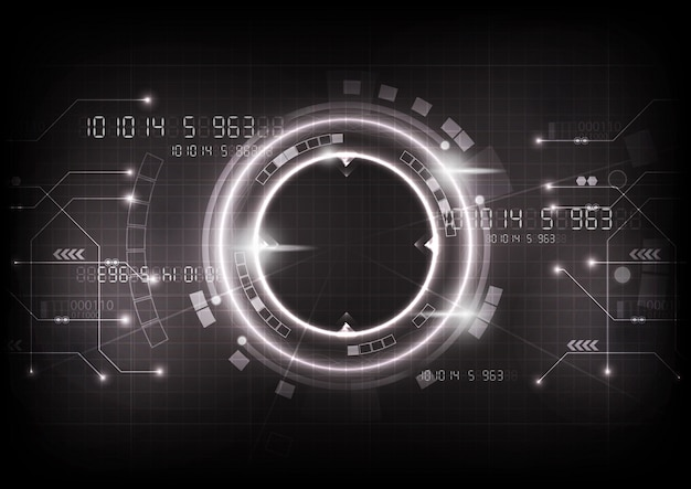 灰色の未来的なゲーム技術のベクトル