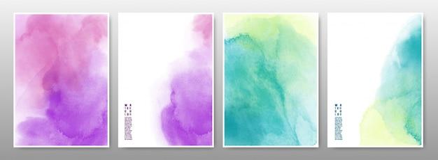 水彩画背景の混合多色