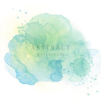 薄緑色の抽象的な水彩画の背景