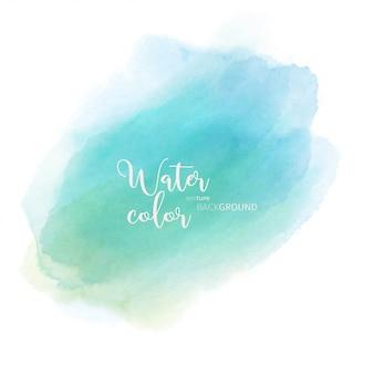 ライトグリーンブルー抽象的な水彩画の背景