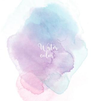 Пастельно-синий розовый абстрактный фон акварелью
