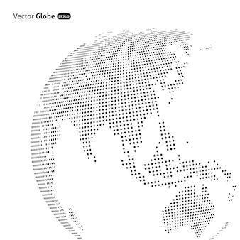 Абстрактный пунктир глобус