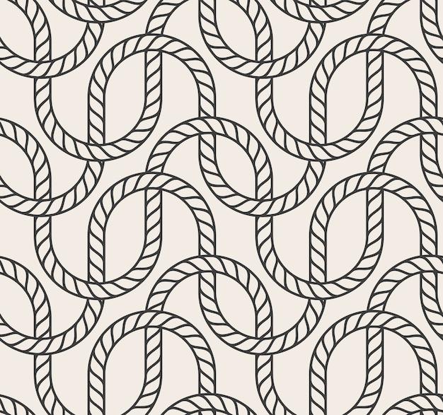 抽象的なシームレスなロープのベクトルの背景