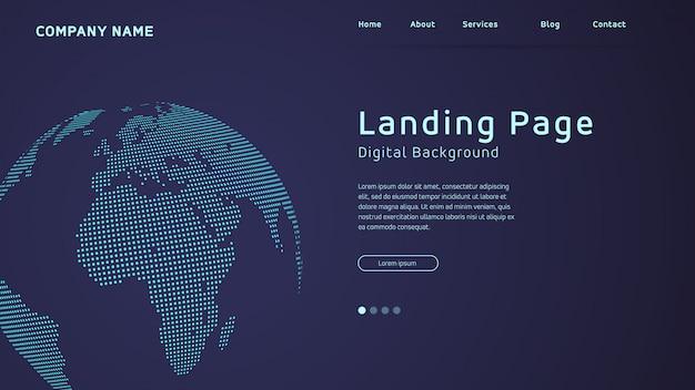 Карта мира в многоточии целевая страница