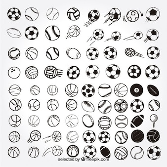 Эскизные спортивные мячи