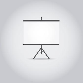 Белый проектор экран