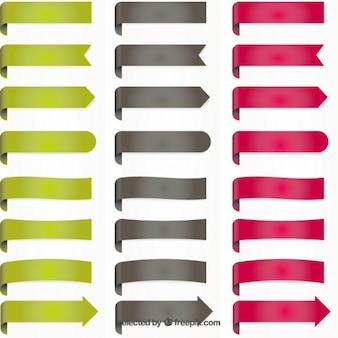 Цветные закладки