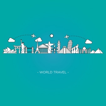 世界の旅行背景