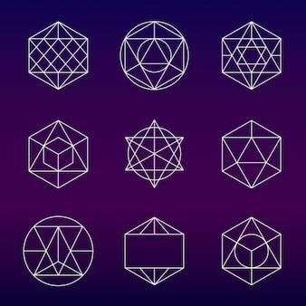 Абстрактные схематичными иконками