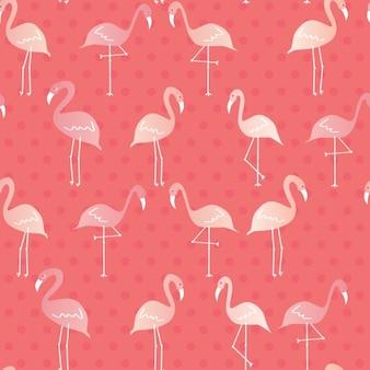 フラミンゴのパターン設計