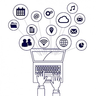 Ноутбук элементы иконки