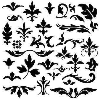 Коллекция декоративных листьев