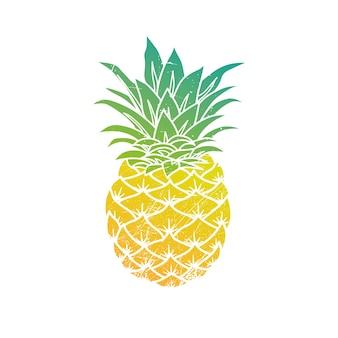Современная иллюстрация ананаса