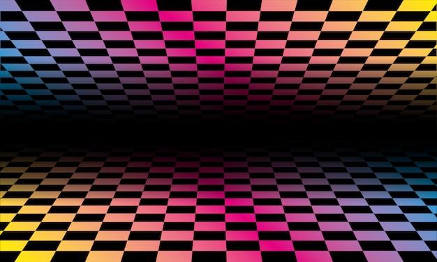 色付きのグリッドの背景パターン。