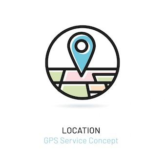 Указатель с перспективной картой города
