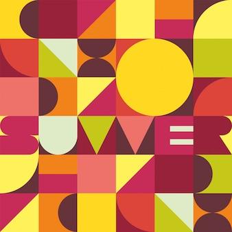 夏のトレンディな幾何学的背景