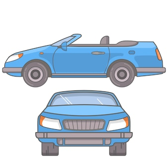 Спортивный автомобиль купе-кабриолет с открытой крышей.