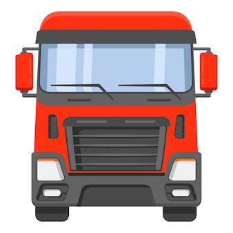 Вид спереди на кабину грузовика.