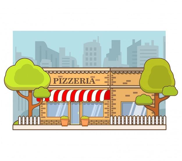 Здание кафе-пиццерии.