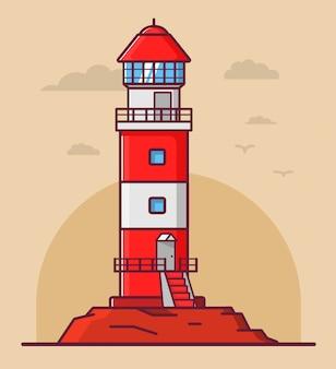 灯台の建物。