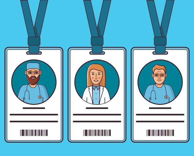 Медицинские пластиковые удостоверения личности врачей.