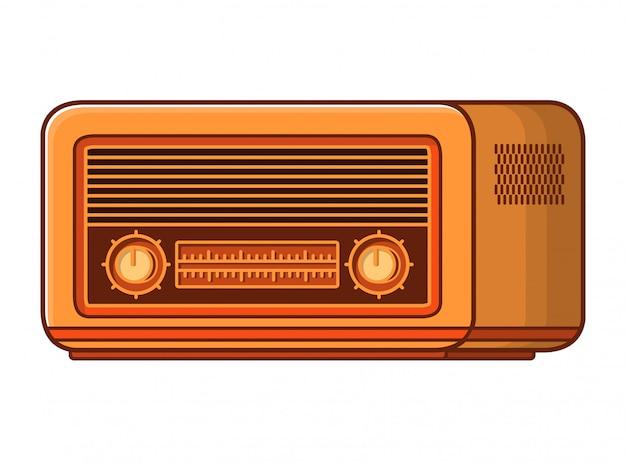 古いラジオ受信機。