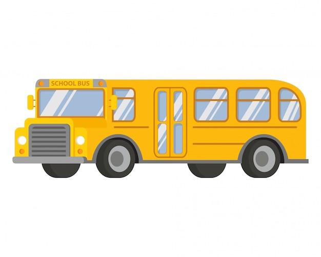 Детский школьный автобус желтый.