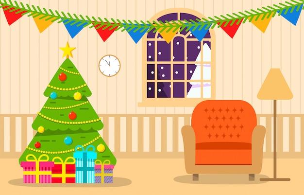 クリスマスツリーインテリアリビングルームギフト付き。