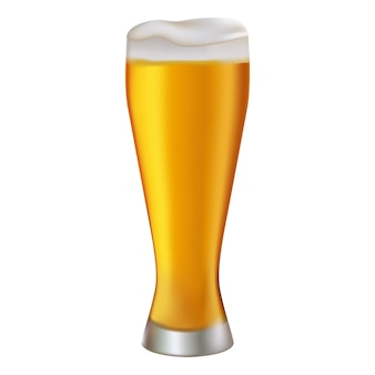 ビールイラストのガラス