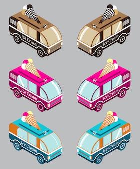 Мороженое фургонное изометрическое.