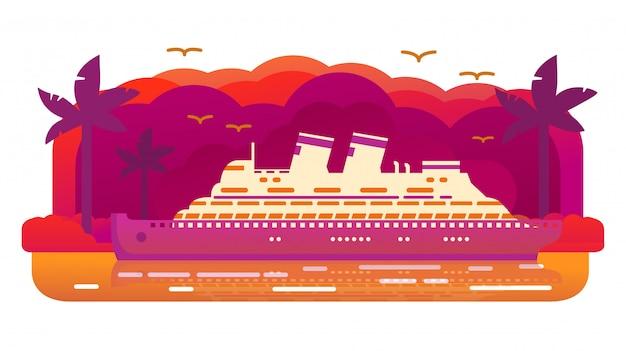 Пассажирский океанский лайнер