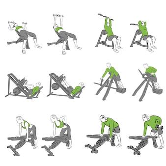 Комплекс систематических упражнений по бодибилдингу для основного снаряжения.