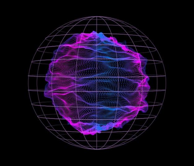 Динамические частицы волны от узлов