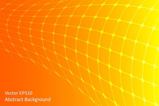 オレンジと黄色の抽象的なベクトルの背景