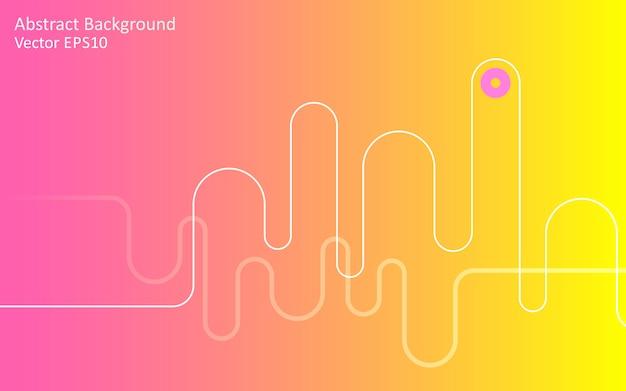 黄色ピンクの抽象的なベクトルの背景