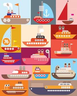 Корабль и лодка