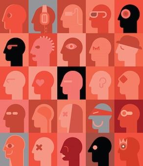 Человеческие головы
