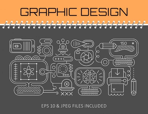 グラフィックデザインのバナーテンプレートデザイン