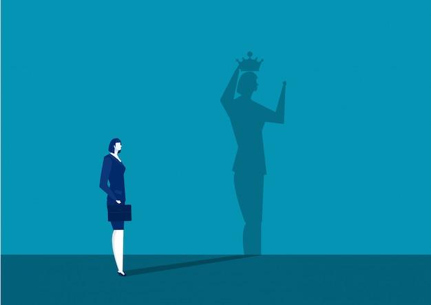 実業家は彼女の影で王冠を取得します