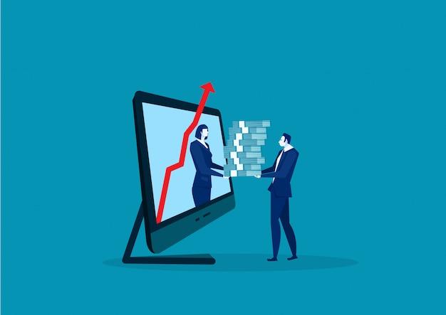 戦略的パートナーシップ、ラップトップコンピューターのベクトル上のビジネスへの投資を提供します。