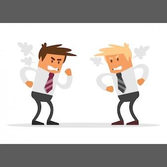 ビジネスマンの競争