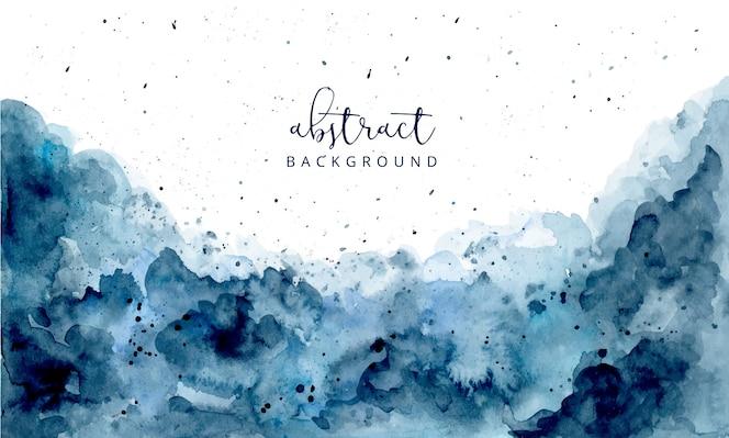 ブルー抽象的な水彩画テクスチャ背景