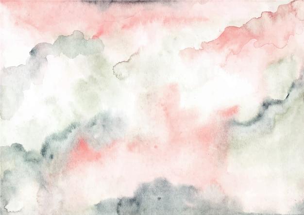ピンクグリーンの抽象的な水彩テクスチャ背景