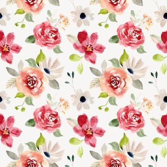 きれいな花の水彩画のシームレスパターン
