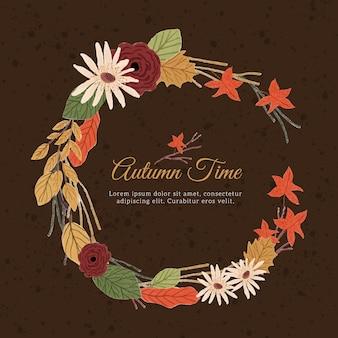 Осенний цветочный венок