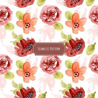 かわいい花の水彩のシームレスなパターン