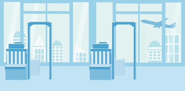 Иллюстрация интерьеров аэропорта. концепция путешествия.